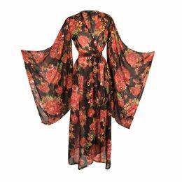 WtR - Felia Red Cady Bodycon Midi Dress