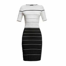 Rumour London - Regatta Striped Monochrome Dress