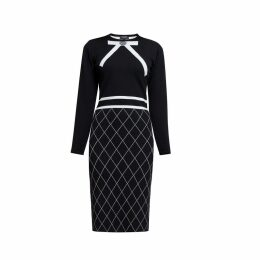 Rumour London - Chloe Bow Jacquard Knitted Dress