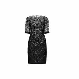 Rumour London - Printed Lace Monochrome Fitted Dress