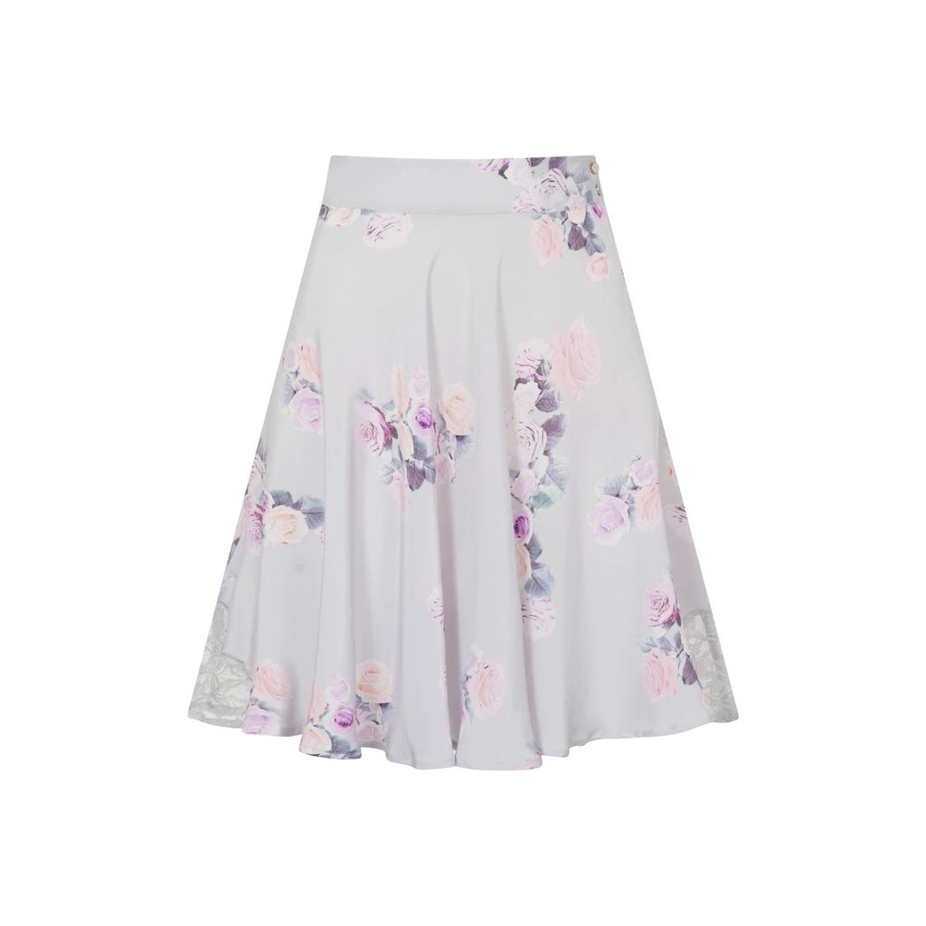 Rumour London - Fleur Poppy-Print Flared Dress
