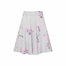 Rumour London - Fleur Poppy-Print Flared Dress