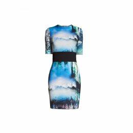 Rumour London - Meribel Soft Jersey Dress with Landscape Print