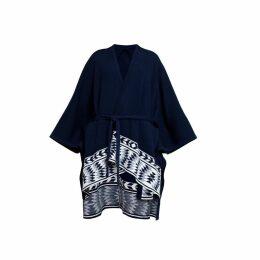 Rumour London - Ivana Merino Wool Asymmetrical Cape