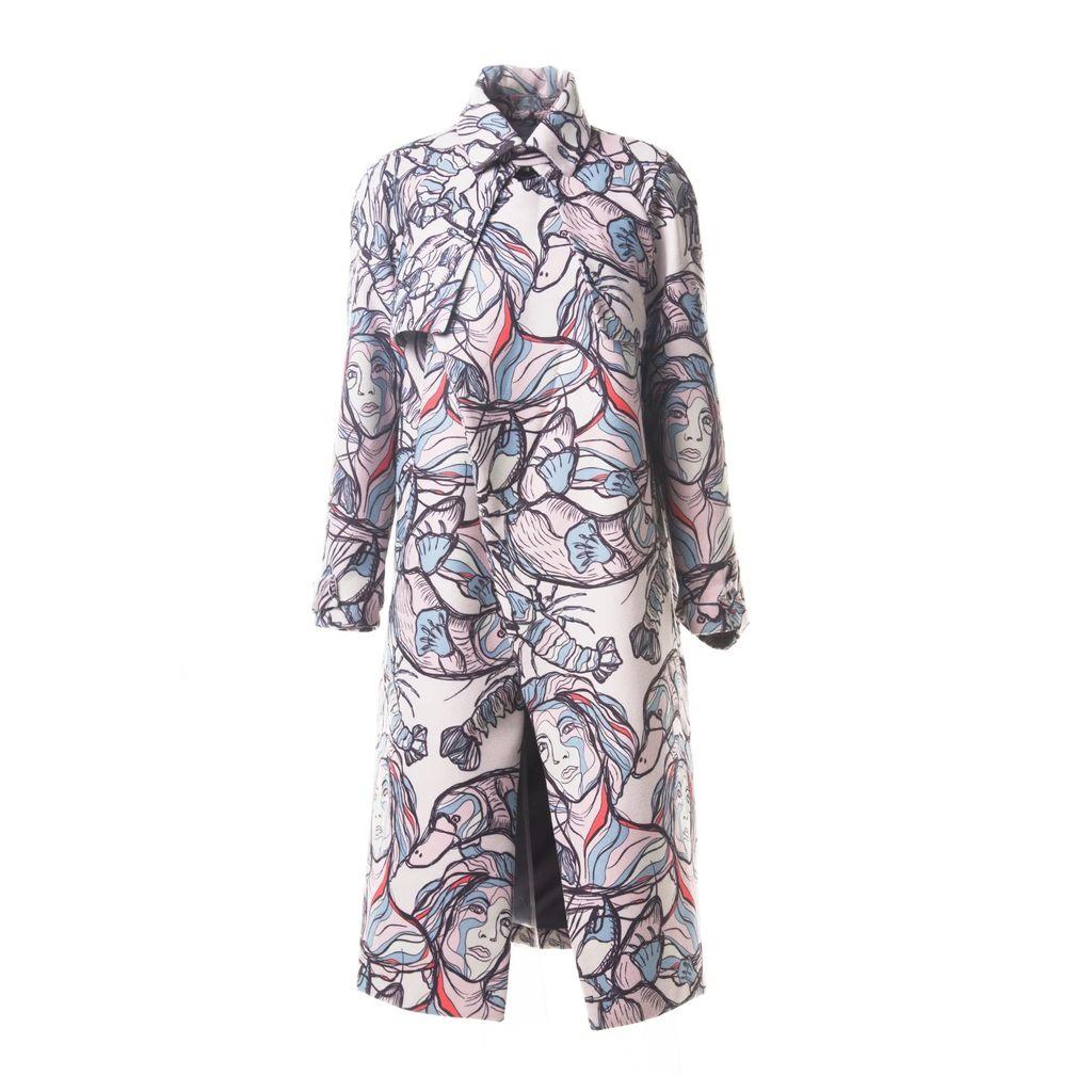 Rumour London - Cara Cape-Effect Merino Wool Ribbed Knit Sweater