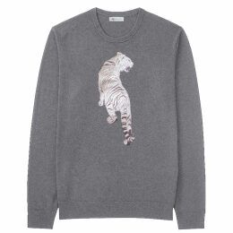 Rumour London - Monaco Striped Cotton Sweater With Metal Eyelets In Midnight Blue