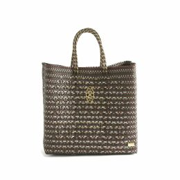 MUZA - Two-Tone Faux Leather Skirt