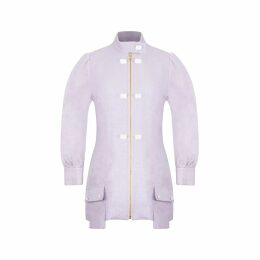 MUZA - Denim & Leather A-Line Skirt
