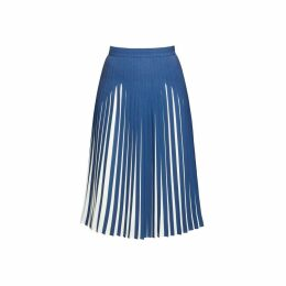 Rumour London - Penelope Azure Blue Pleated Two-Tone Midi Skirt