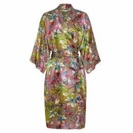 Genevie - Magnolia Silk Kimono Robe