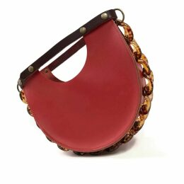 Angela Valentine Handbags - Mallory Top Handle Circle Bag in Saffron Red