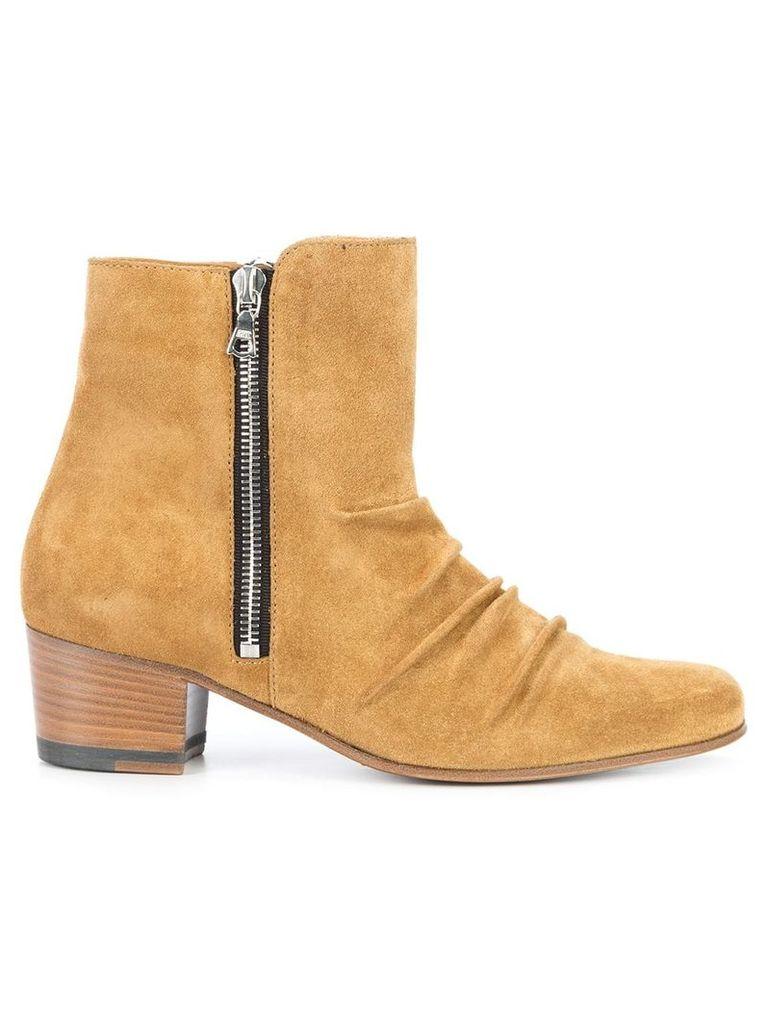 Amiri ruched heeled boots - Neutrals