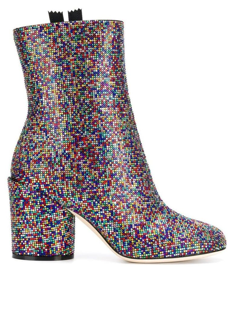 Marco De Vincenzo embellished ankle boots - Red