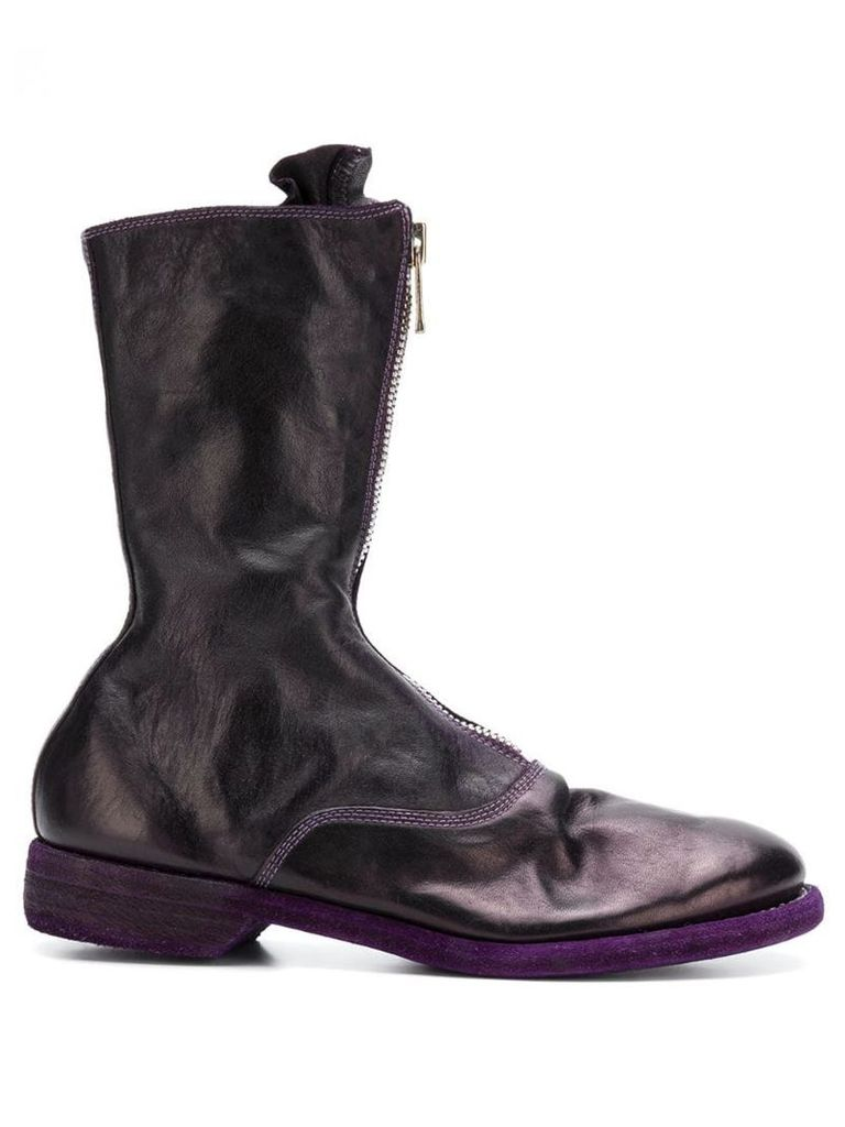 Guidi front zip boots - Purple
