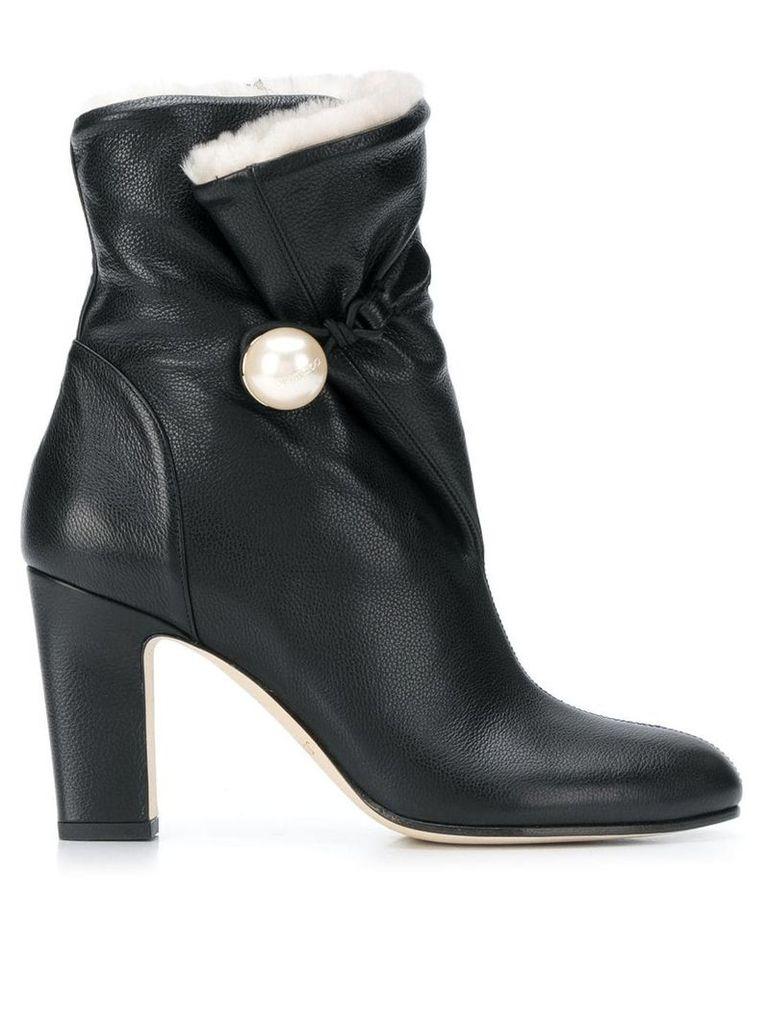 Jimmy Choo Bethane shearling boots - Black