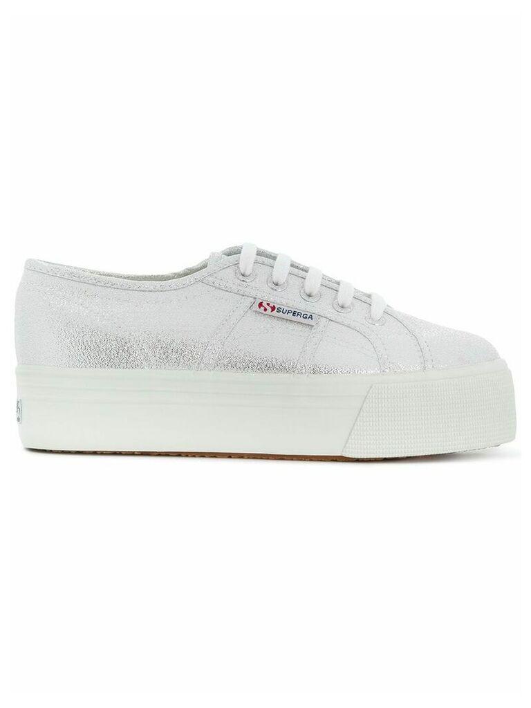 Superga platform sneakers - Metallic