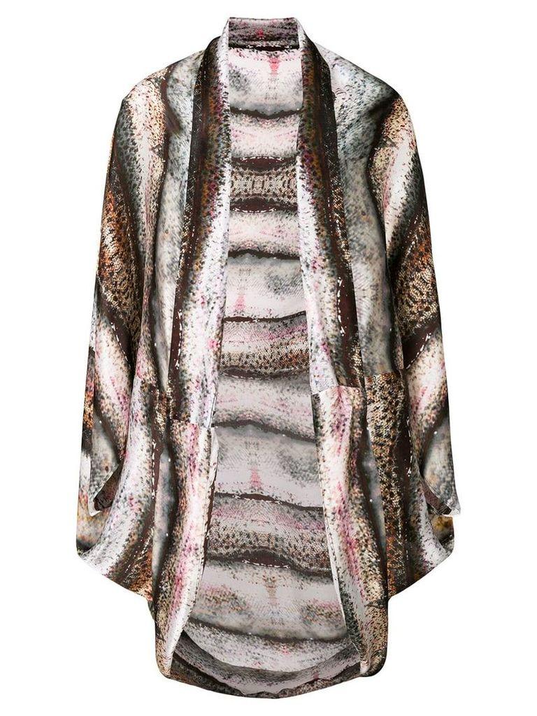 Mona draped embroidered cape - Multicolour