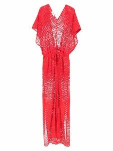 Amir Slama knit beach dress - Red