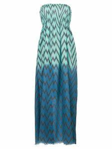 Tara Matthews Capo zig-zag maxi beach dress - Blue