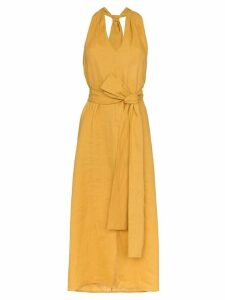 Three Graces minerva halterneck dress - Orange