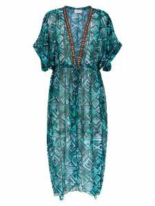 Brigitte silk beach dress - Blue