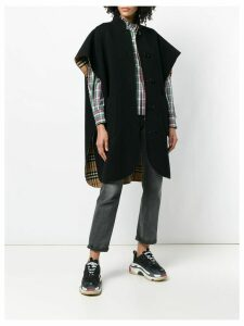 Burberry loose fitted cape coat - Black