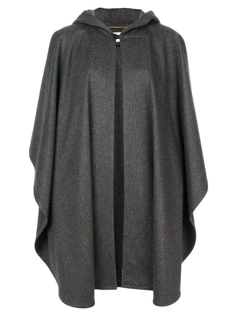 Saint Laurent oversized hooded cape - Grey
