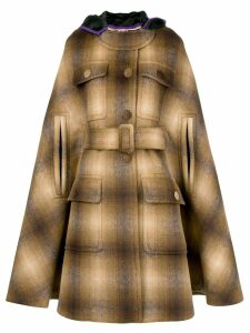Nº21 hooded cape coat - Brown