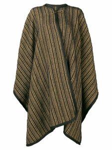 Forte Forte striped cape - Black