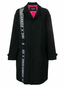 Dsquared2 side logo coat - Black