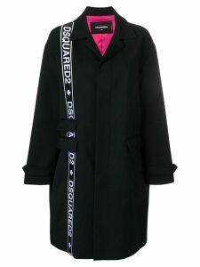 Dsquared2 side logo coat - Black