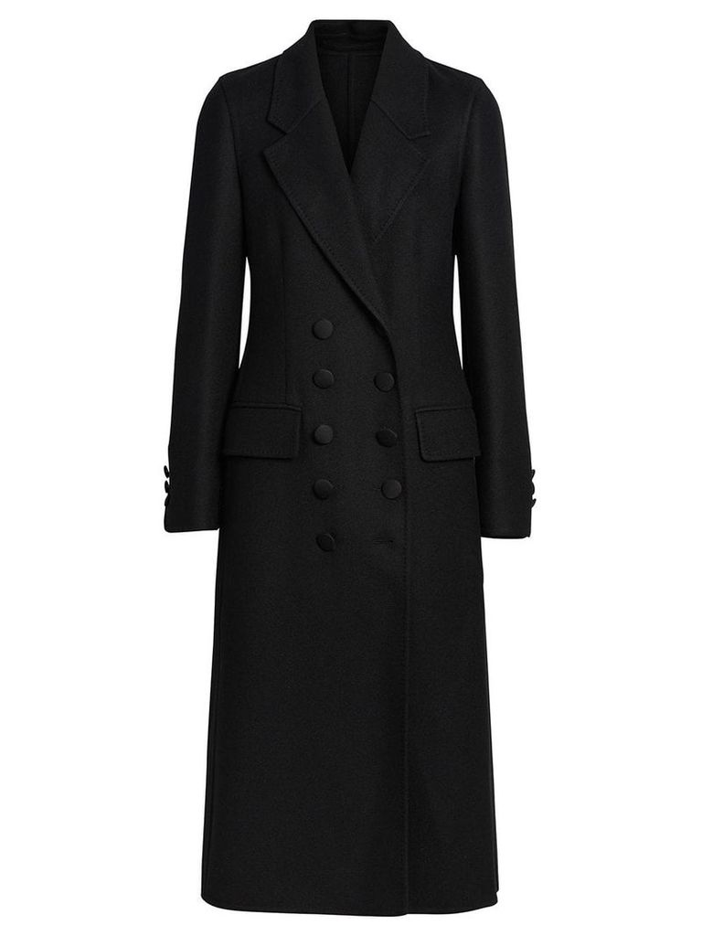 Burberry Double-breasted Cashmere Tailored Coat - Black