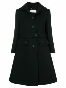 Chloé buttoned up longsleeved coat - Black