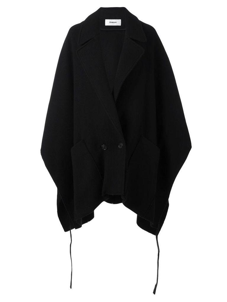 Chalayan pocket poncho coat - Black