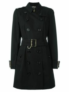 Burberry Cotton Gabardine trench coat with oversize buckle detail -