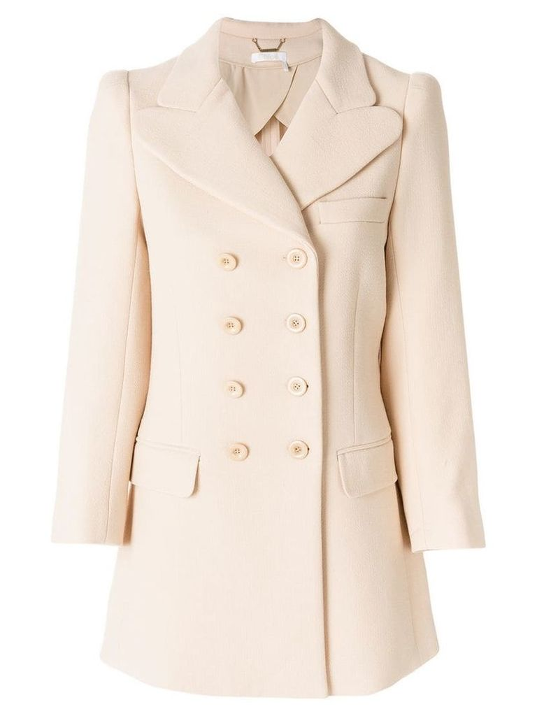 Chloé double breasted coat - Neutrals