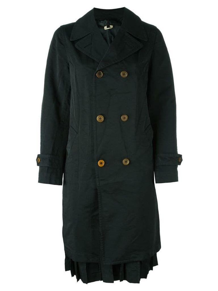 Comme Des Garçons Comme Des Garçons double breasted coat - Black
