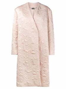 Alexander McQueen butterfly embroidered cocoon coat - PINK