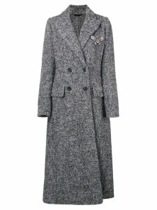 Ermanno Scervino double breasted tweed coat - Grey