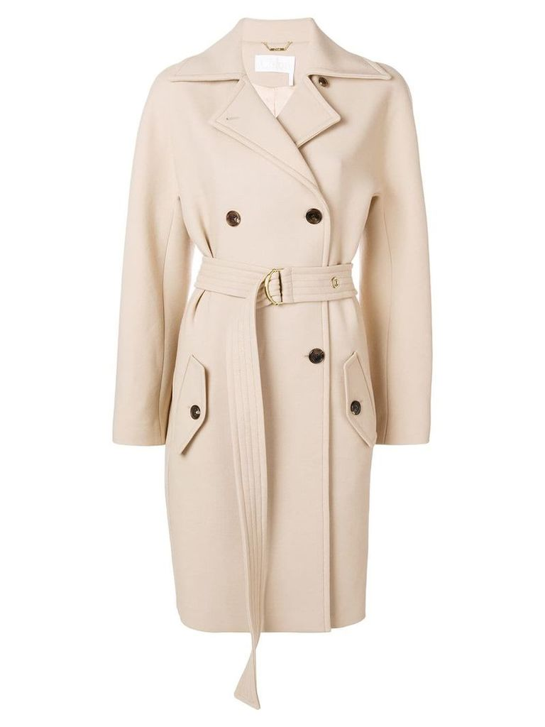 Chloé belted double-breasted coat - Neutrals