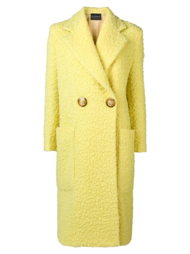 Erika Cavallini double breasted coat - Yellow
