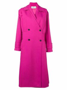 Valentino double breasted tricotine coat - Pink