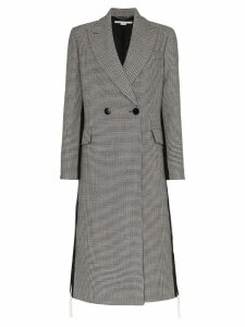 Stella McCartney Chana double breasted houndstooth wool coat - Grey