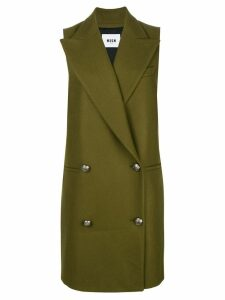 MSGM double breasted sleeveless coat - Green