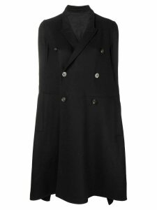 Rick Owens flared double-breasted coat - Black