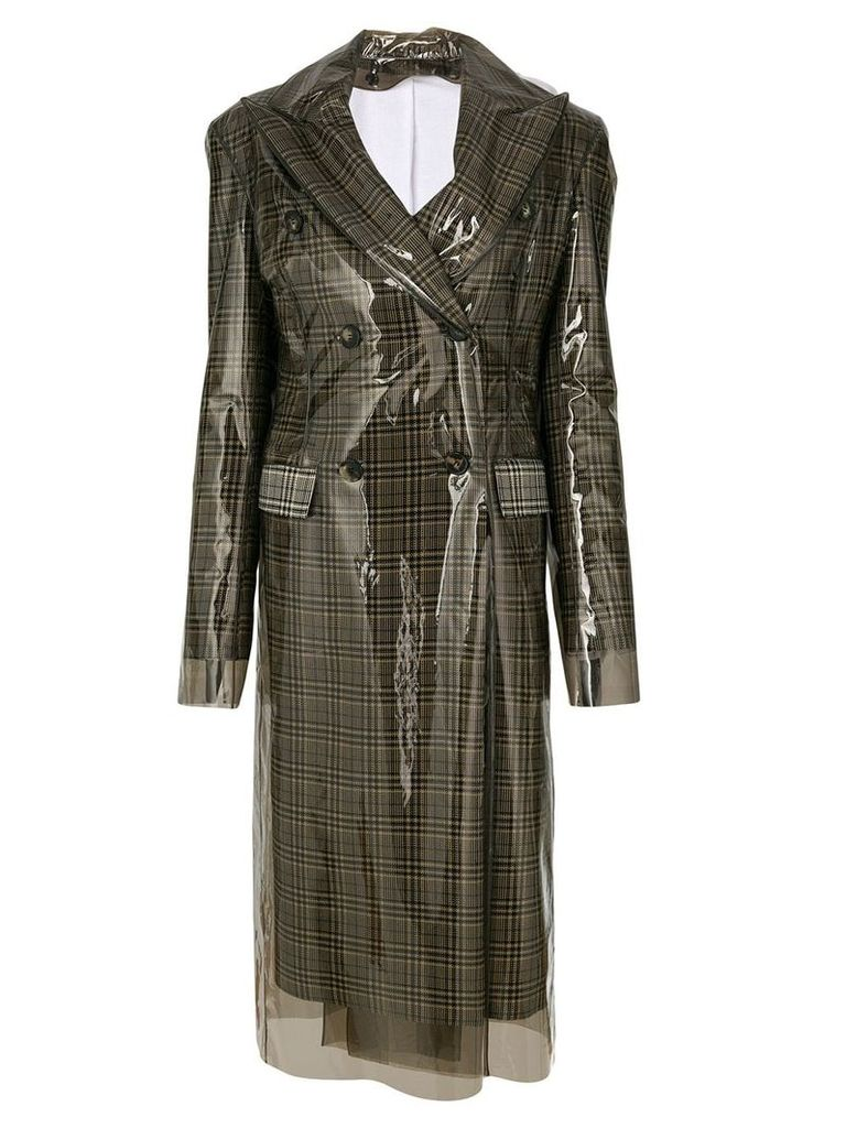 Calvin Klein 205W39nyc double breasted waterproof coat - Brown