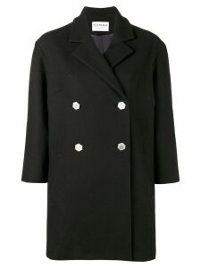 Osman Double Breasted Balloon Coat - Blue