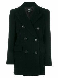 Isabel Marant Lea double breasted coat - Black