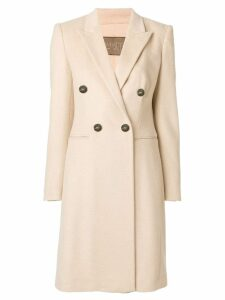 Giambattista Valli double-breasted button coat - NEUTRALS