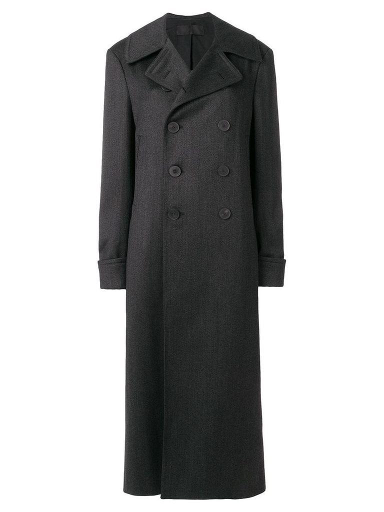 Haider Ackermann long double-breasted coat - Grey